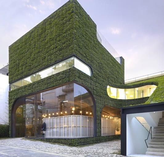 Ann Demeulemeester Shop w Seulu. Projekt Mass Studies, fot. Yong-Kwan Kim